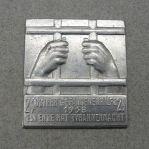 1938 Austrian Political Prisoner Plaque