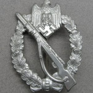 Army/Waffen-SS Infantry Assault Badge, Silver Grade, Hollowback