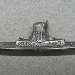 "Kriegsmarine U-Boat ""U Deutsche Kraft"" Badge"