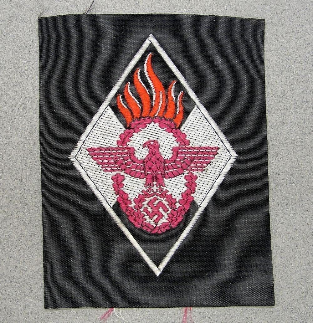 HJ Hitler Youth Feuerwehrschar Fire Fighters Patch