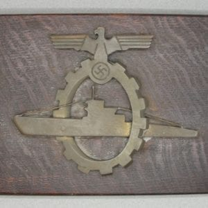 Kriegsmarine Dockyard Workers Achievement Badge Plaque