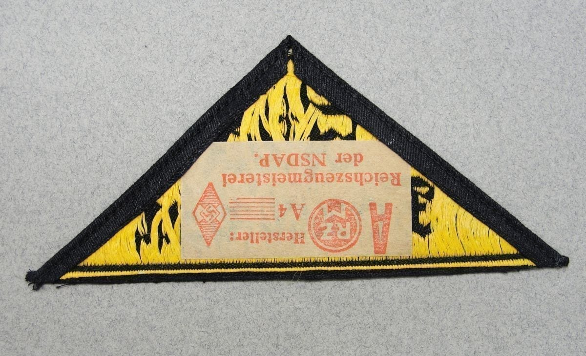 Hitler Youth District Triangle with RZM Tag Süd Franken