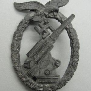 Luftwaffe Flak Badge by Wiedmann