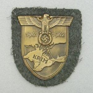Krim Shield on Army/Waffen-SS Backing