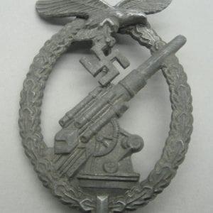 "Luftwaffe Flak Badge by ""G.B."" Gustav Brehmer"