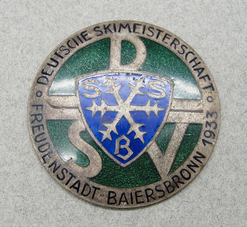1933 DSV Ski Championship Badge