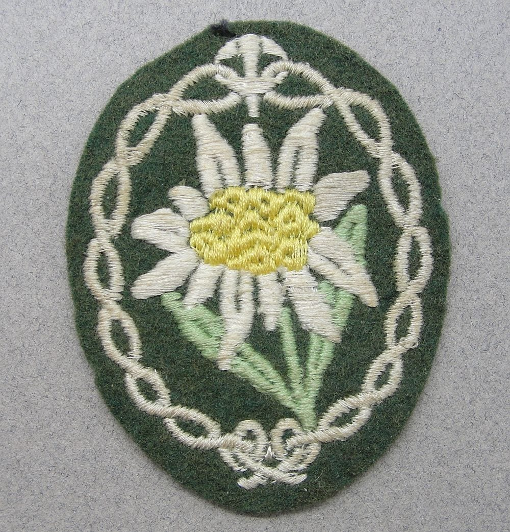 Army Mountain Troops Sleeve Edelweiss