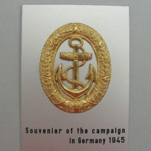 Kriegsmarine Watch Officer Badge on Souvenir Plaque