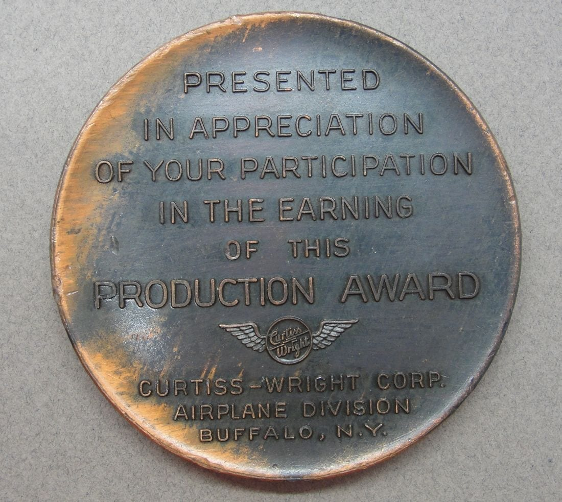 1943 Curtis-Wright Airplane Division Production Award
