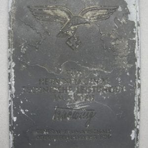 Luftwaffe Honor Plaque for Outstanding Technical Achievement in the Southern Com