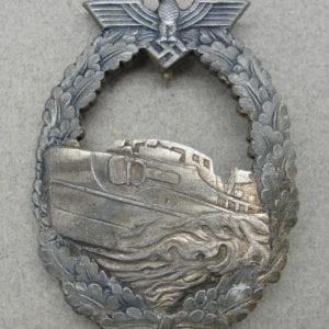 Kriegsmarine E-Boat Badge, First Pattern, French-Made