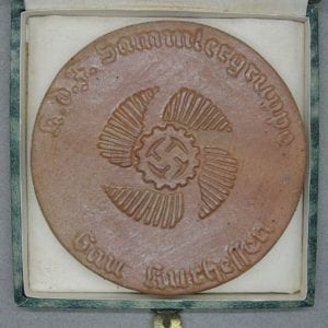 Cased 1939 DAF KDF Honor Plaque