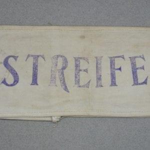 "NSDAP  ""STREIFE"" Patrol Service Armband"