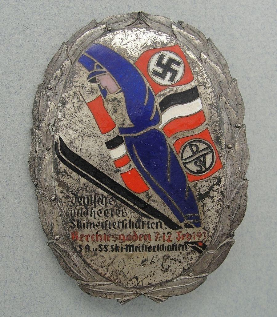 1934 SA and SS Ski Championship at Berchtesgaden Badge for Participants