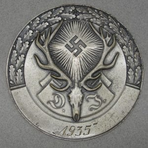 "1935 German Hunting Association ""Deutsche Jägerschaft"" Silver Grade Plaque"