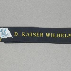 Nord-deutscher Lloyd D. Kaiser Wilhelm der Gross Cap Tally