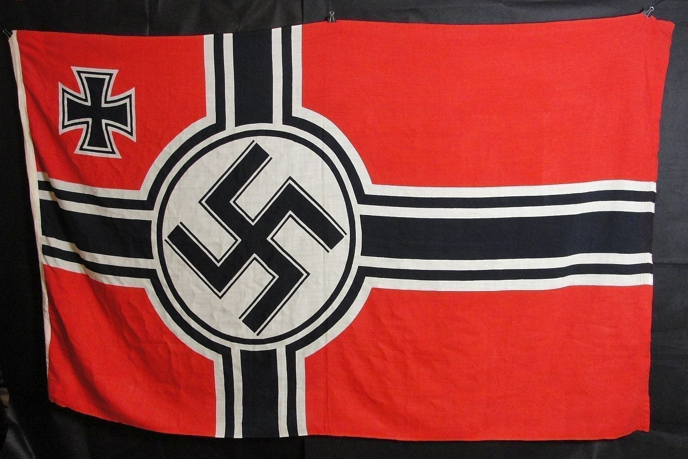 Kriegsmarine Marked Battle Flag