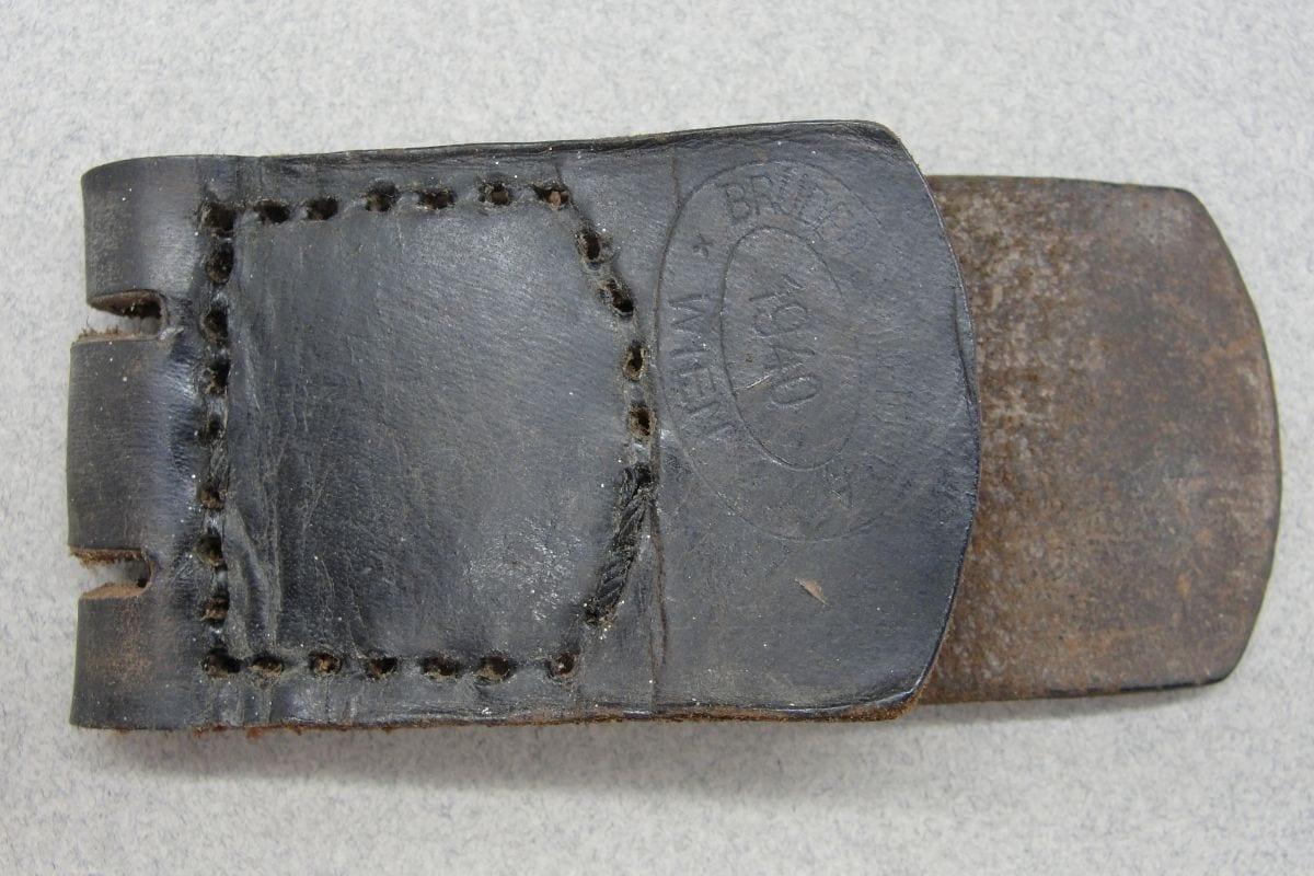 Leather Belt Buckle Tab by Brüder Schneider 1940 Dated