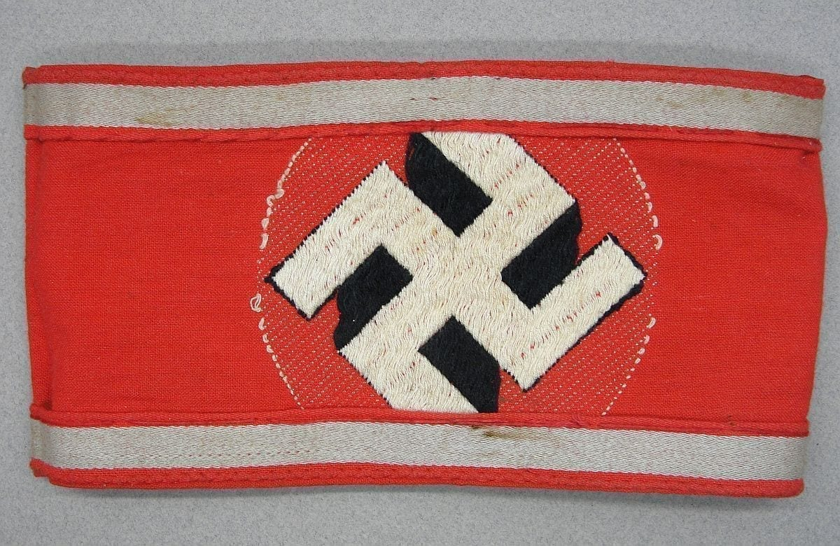 SA Reserve Armband Reversed and Worn as NSDAP Armband