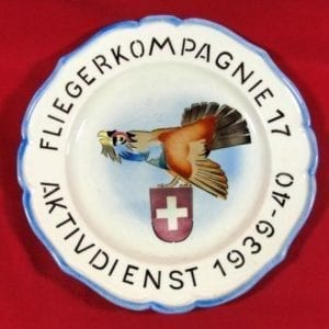 Swiss World War Two Air Force Two Plate