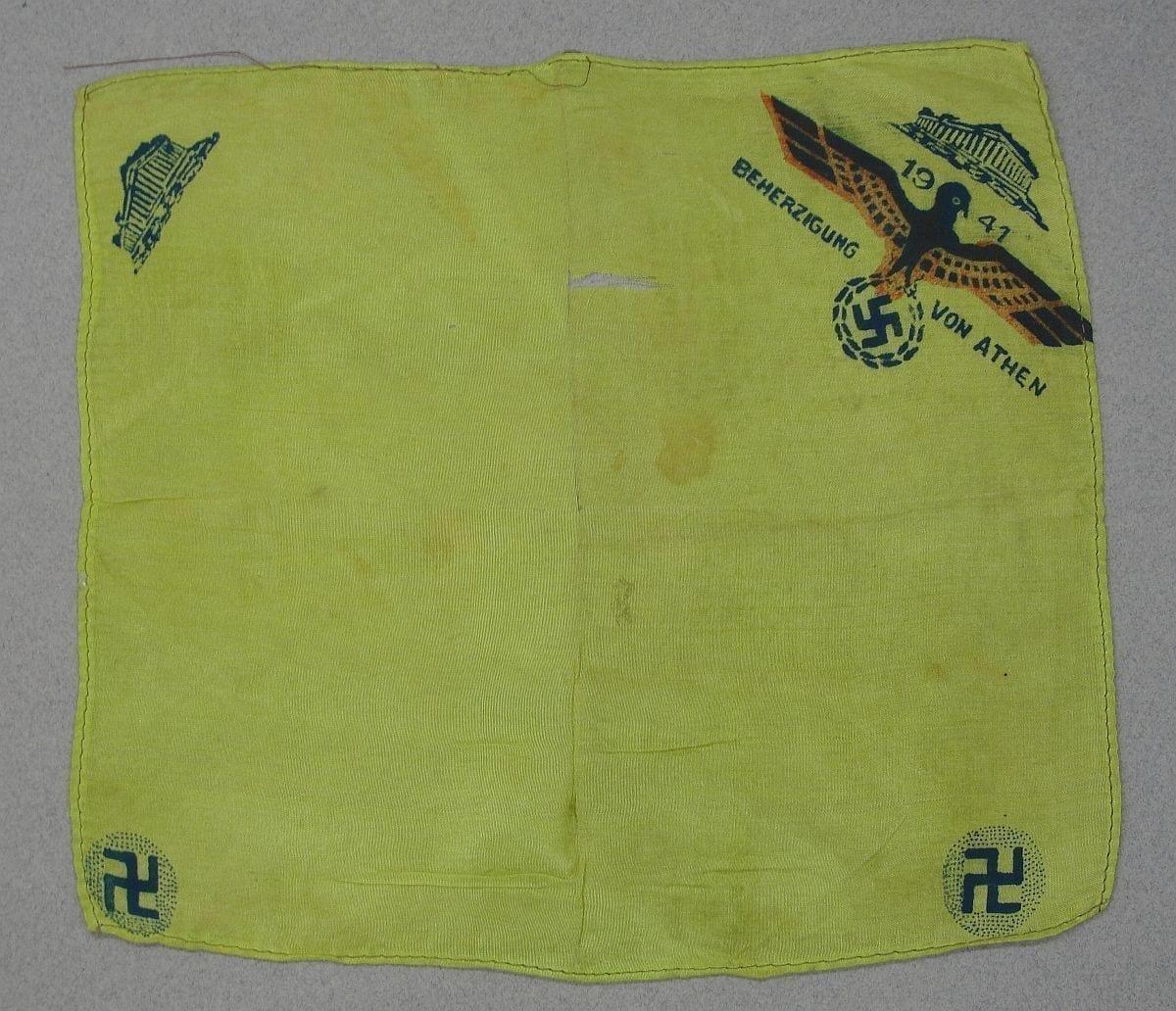 German Occupied Athens Greece Handkerchief