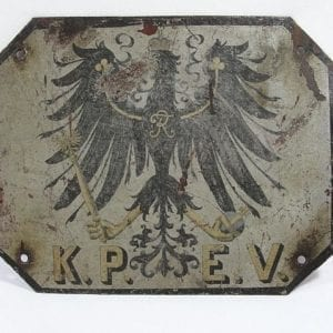 K.P.E.V. Royal Prussian Railway Administration Shield for Train