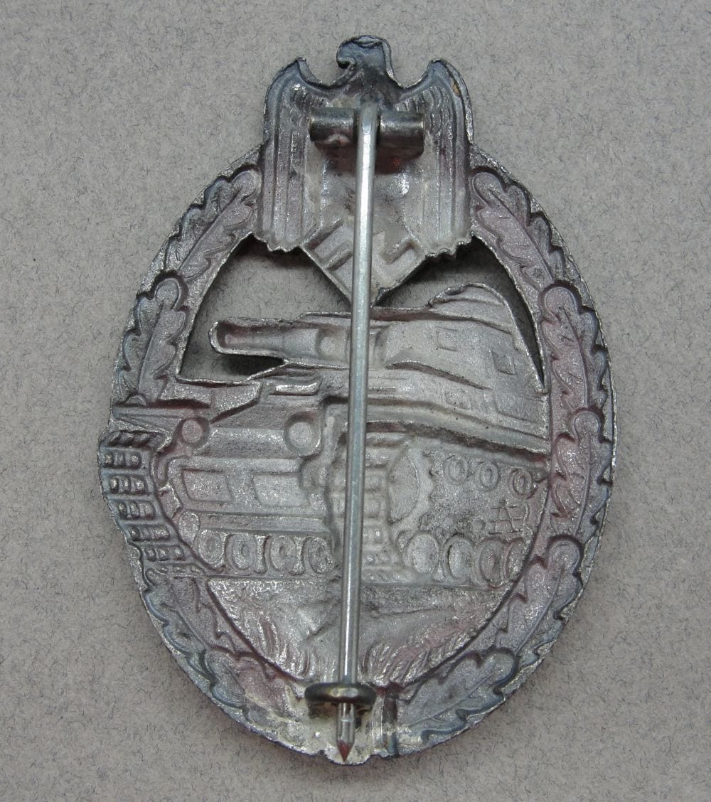 Army/Waffen-SS Panzer Assault Badge in Silver by Assmann in Cupal