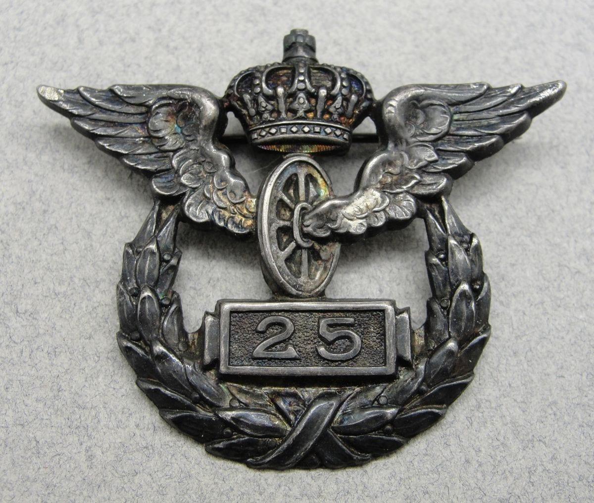 Imperial German Railway 25 Year Badge