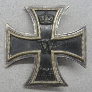 WW1 Iron Cross, First Class, Brass-Based Example