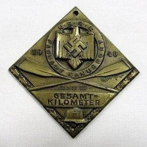 1940 NSRL FACHAMT KANUSPORT Table Medal Prize, Bronze Medal