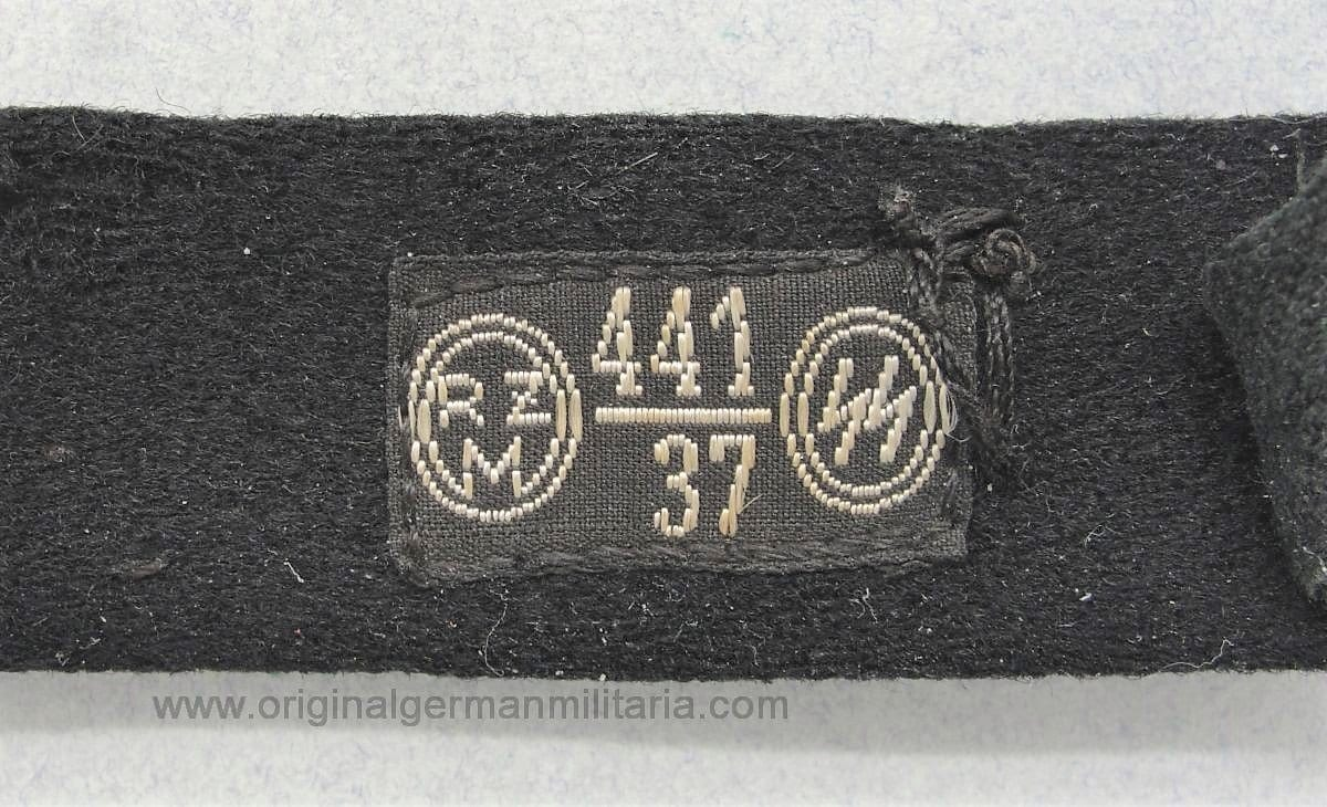 Allgemeine-SS Officer's Shoulder Board with 1937 SS-RZM Tag