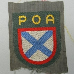 """Bevo """"POA"""" Russian Army of Liberation Foreign Volunteer Shield"""