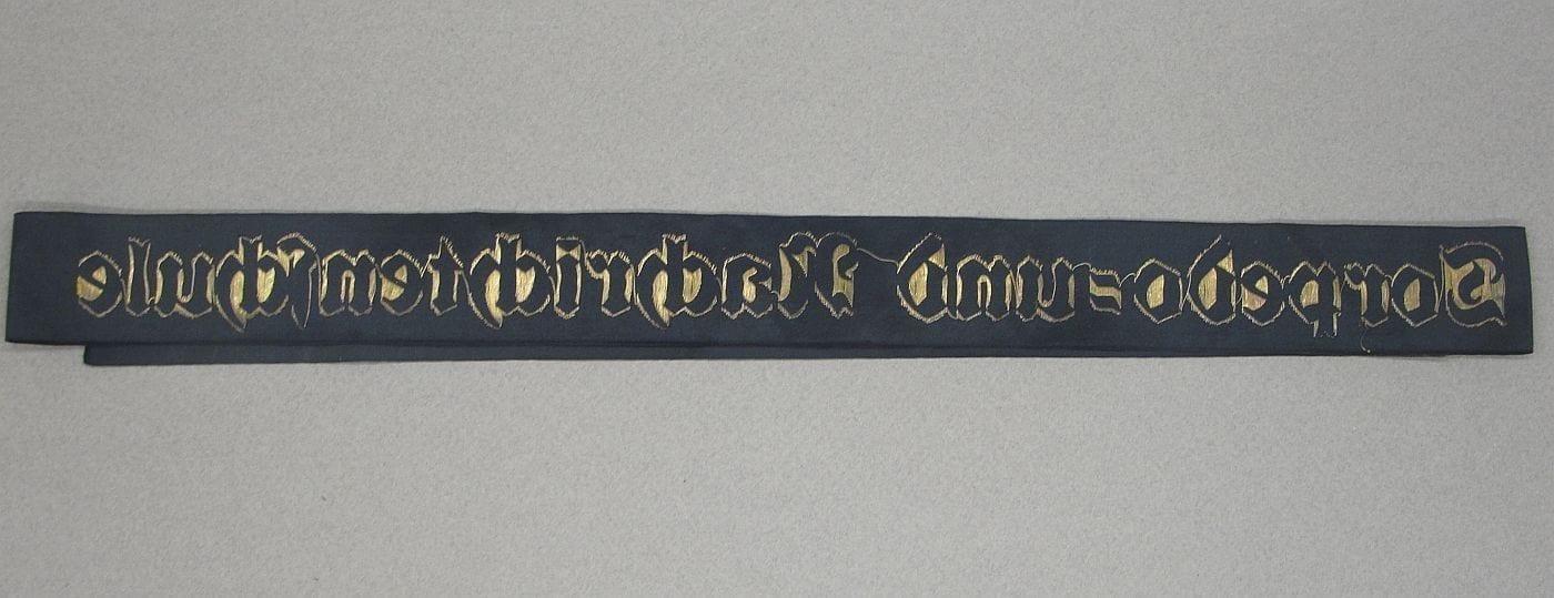 Kriegsmarine Torpedo = und Nachrichtenschule Cap Tally