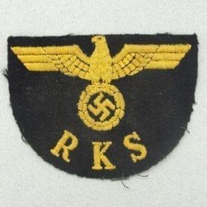 RKS - Reichskommissariat für die Seeschiffahrt Sleeve Insignia
