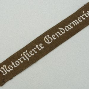 Early Motorisierte Gendarmerie Autobahn Police Cuff Title