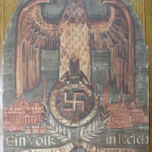 Ein Volk Ein Reich Ein Führer! 1938 Original Painting by Florenz