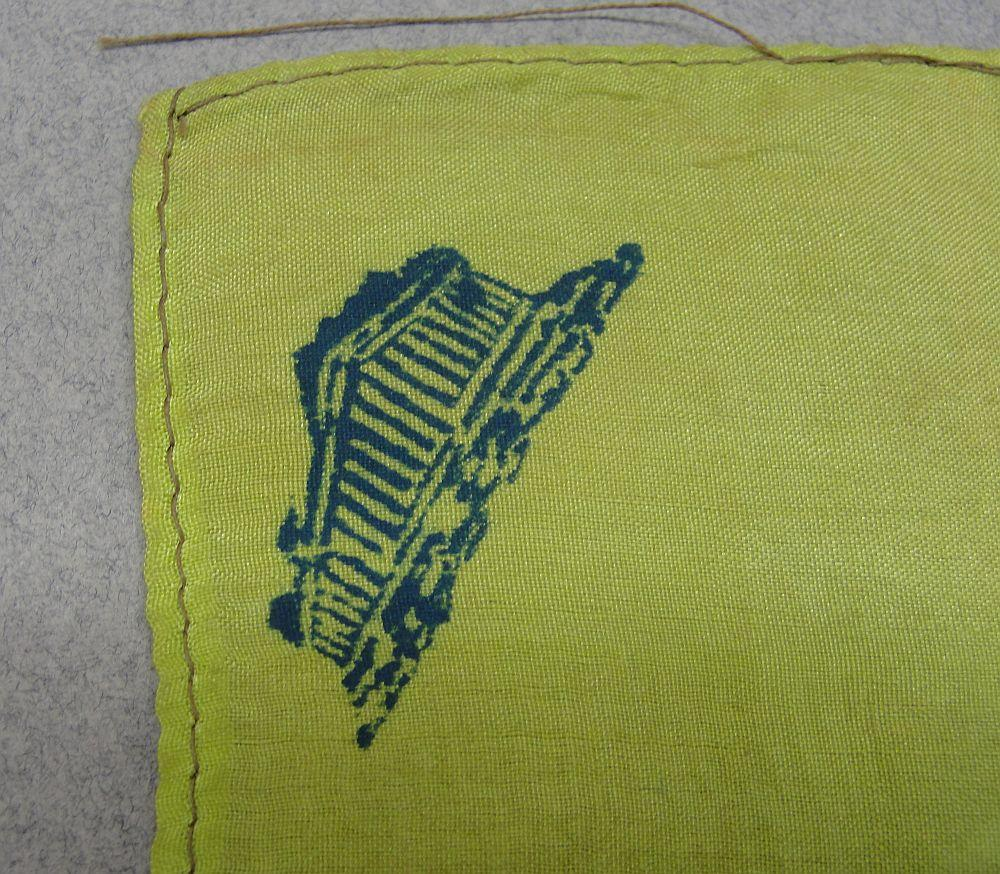 German Occupied Athens Greece Handkerchief