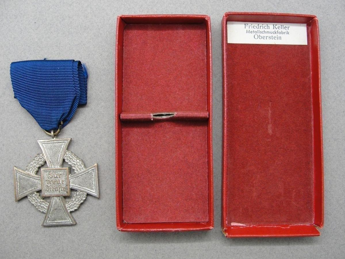 25 Year Faithful Service Medal Cased