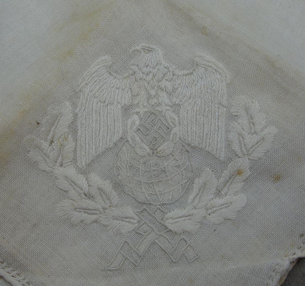 Joachim von Ribbentrop's (Reich Minister for Foreign Affairs) Fine Linen Napkin