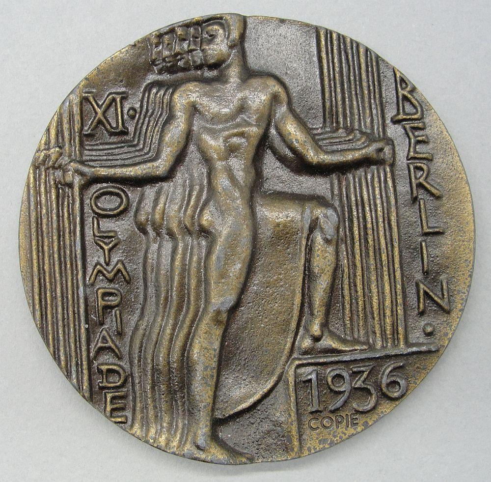 1936 Olympic Participants Medal, Version for Sale to Public