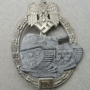 Special Grade Silver 25 Numbered Panzer Assault Badge by JFS