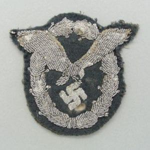 Luftwaffe Pilot's Badge, Bullion-Version, Tunic-Removed
