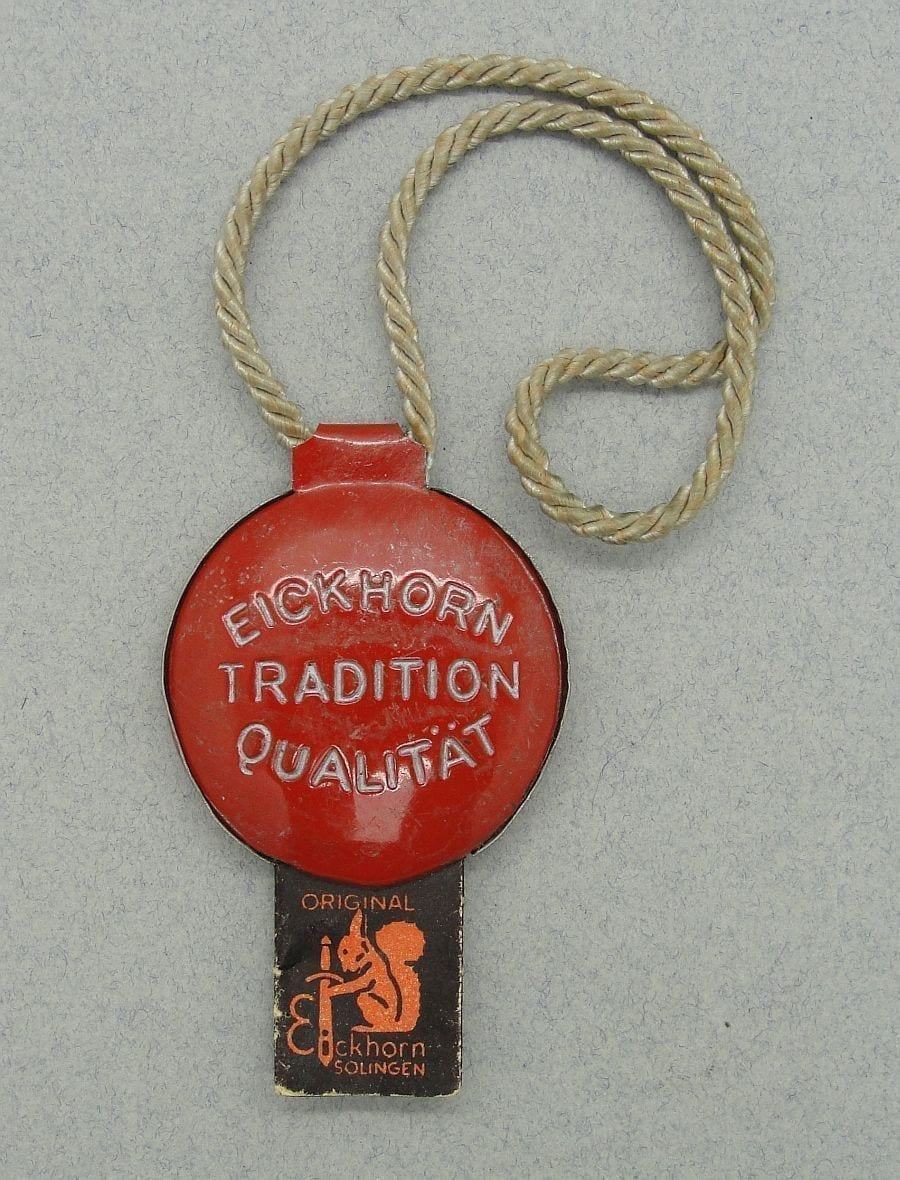 Eickhorn Metal Dagger Quality Control Tag with Paper Insert