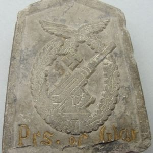 Luftwaffe Flak Badge Grave Marker