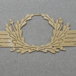 Luftwaffe Officer's Visor Cap Wreath Unterlagen