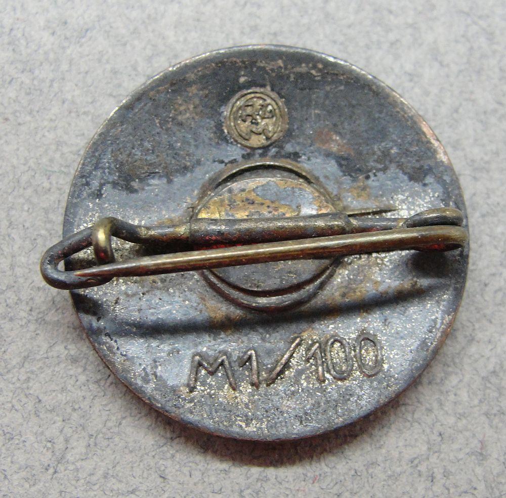 "NSDAP Membership Badge by ""RZM M1/100"""