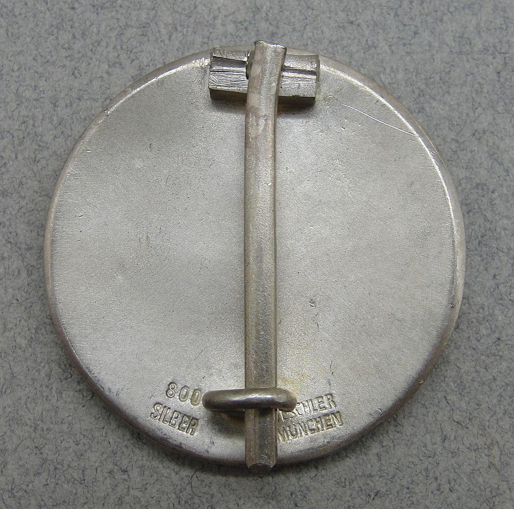Honor Badge for Airport Opening at Berchtesgaden, by Deschler, 800 Silver