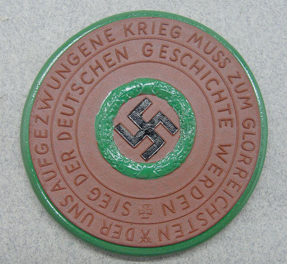 Meissen Medallion - No more islands - War was forced upon us