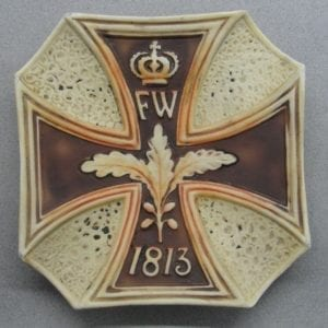 Iron Cross Patriotic Motif Plate
