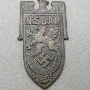 1933 Pommern Day Badge Pin Gone